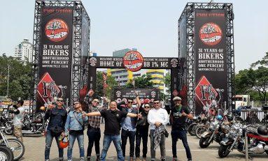 Tunjukkan Solidaritas Sesama Bikers, Supermoto Indonesia (SMI) Hadiri HUT ke-31 BB1%MC Indonesia