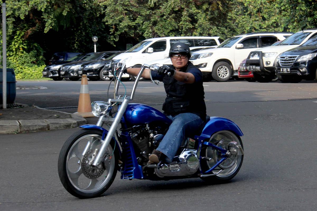 Para biker antusias bersilaturahmi dalam acara Halal Bihalal H.O.G JC 2017