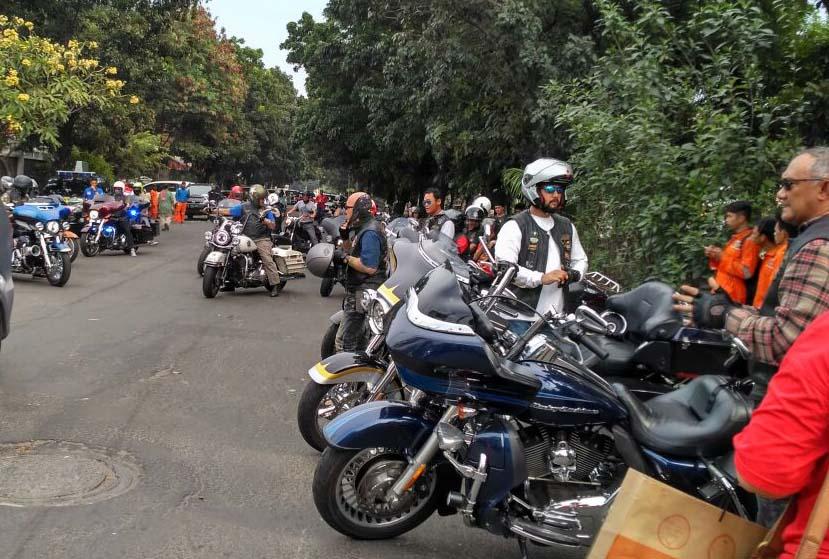 Anak Elang HD dan Komunitas Bikers Dukung Gerakan Tolak Narkoba