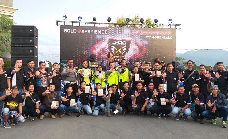 Ribuan Bikers Hadiri Pesta HUT ke-5 XYI Gorontalo