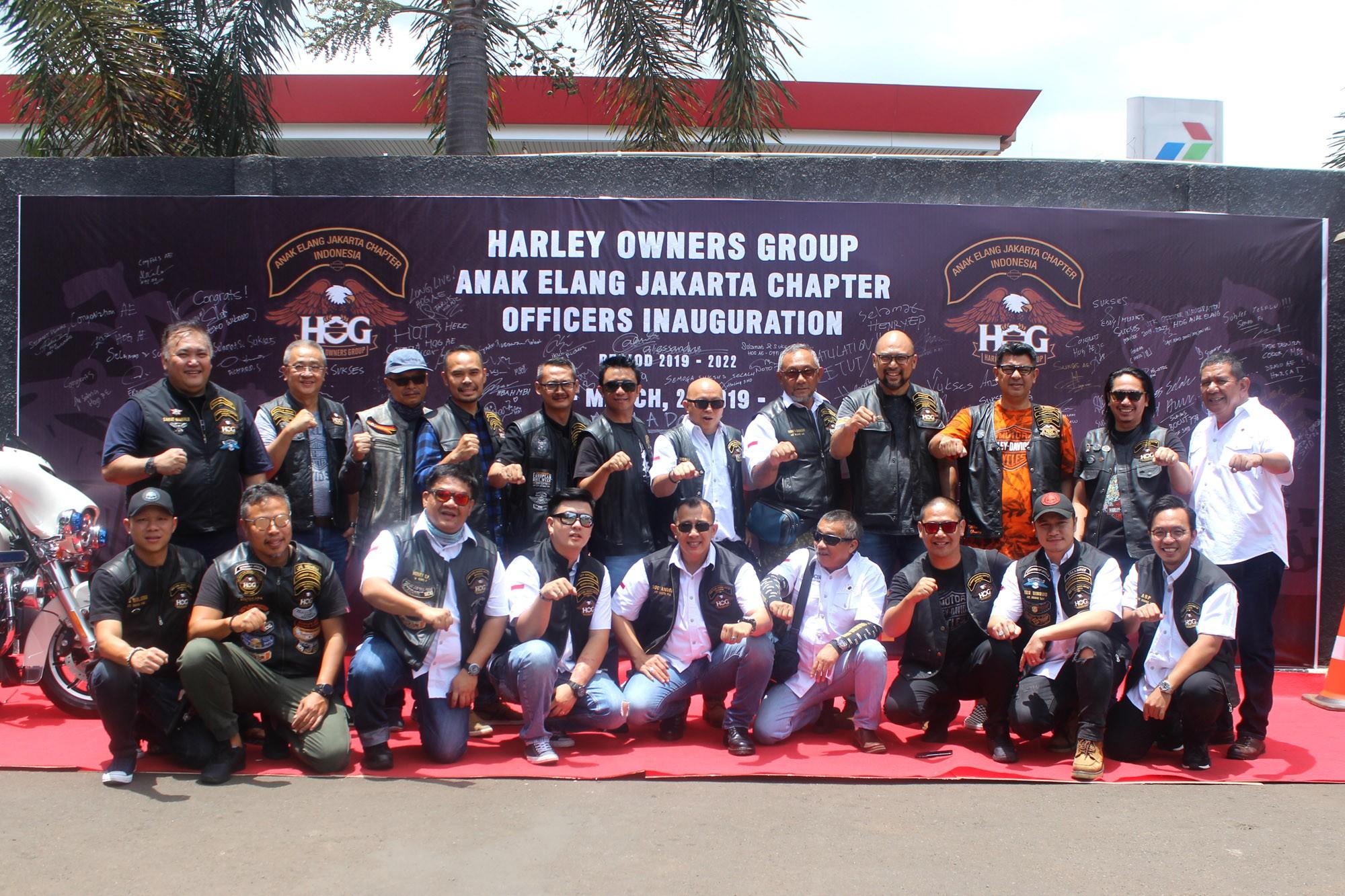Harley Owners Group Anak Elang Lantik Pengurus Baru
