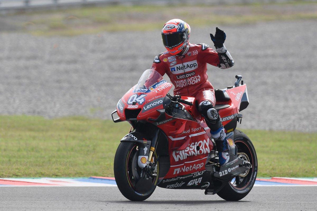 MotoGP Argentina: Dovizioso Terima Kekalahan dari Rossi