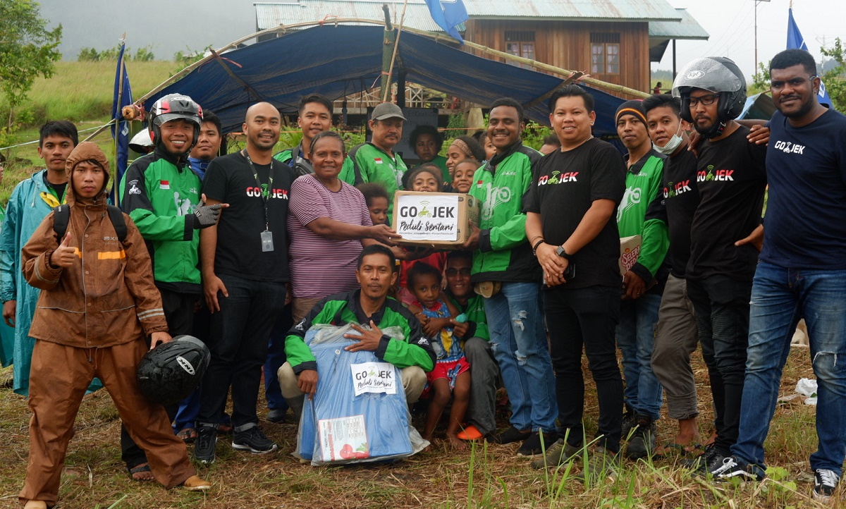 Gojek Peduli Untuk Korban Banjir Sentani