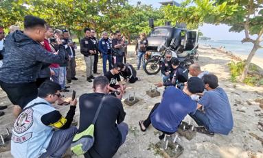 Touring Bikers Royal Riders Indonesia (RORI) Sambil Lestarikan Terumbu Karang