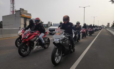 DAM Gelar Rolling City Bareng Komunitas Honda CBR Series