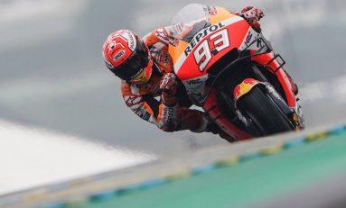 Di Bawah Guyuran Hujan, Marquez Rebut Pole di Le Mans
