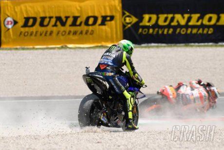 Rossi crash