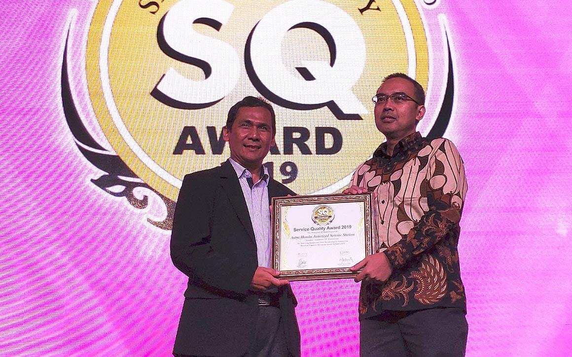 Bengkel AHASS Raih Penghargaan SQ Award 2019