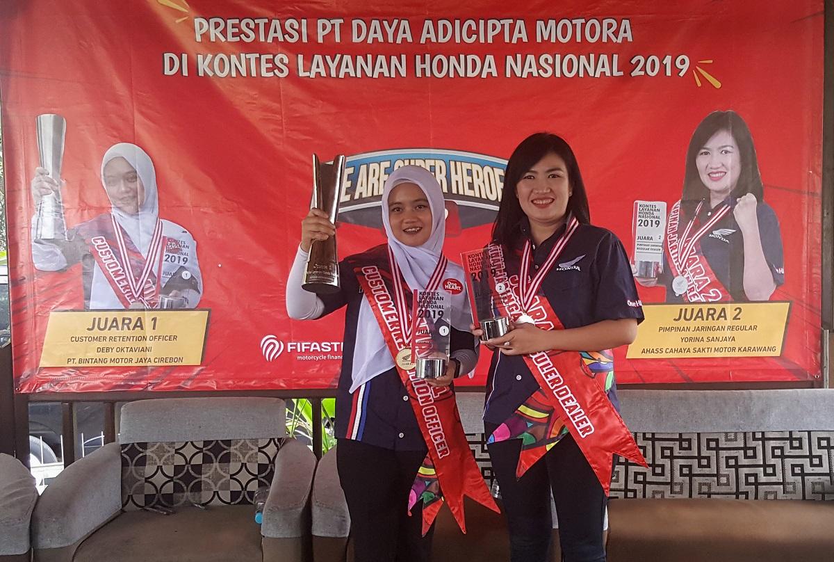 Dua Wanita Cantik Wakili DAM Raih Juara Kontes Layanan Honda Nasional 2019