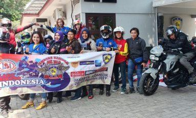 Touring Perdana Lady Bikers Indonesia (LBI) Menuju Lombok