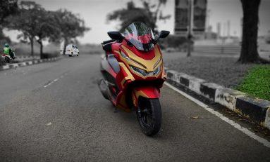 Pertama di Dunia, Modifikasi PCX Iron Man Bikin Tampil Beda