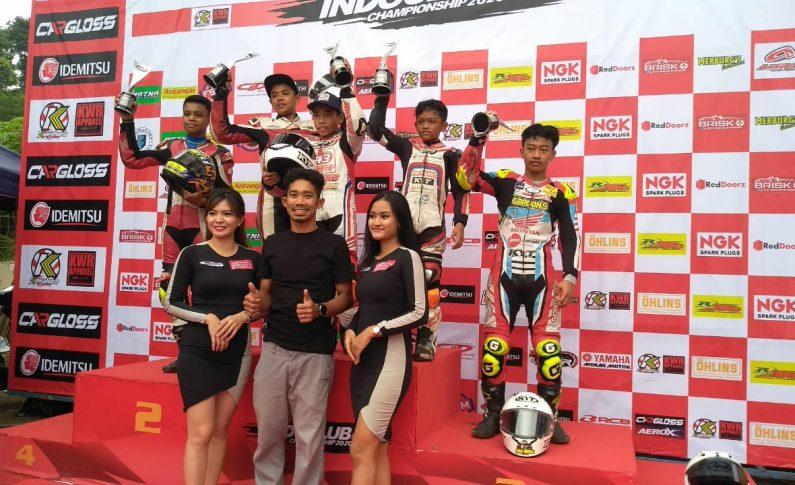 Pebalap 43 Racing School Kuasai Podium Kelas Pemula di Seri 1 Indoclub 2020