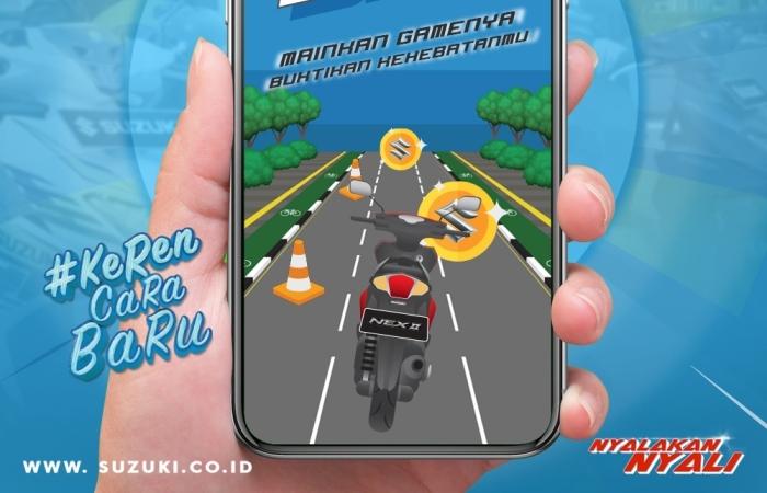 Suzuki Ajak Bikers Main Game Kejar Daku di Media Sosial