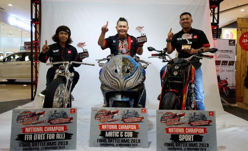 Tiga Modifikator Terbaik Honda Modif Contest (HMC) 2019