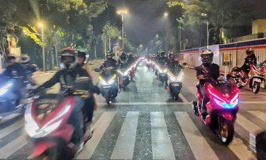 All New PCX Community (ANPC) Jadetabek Gelar City Touring Keliling Kota Jakarta