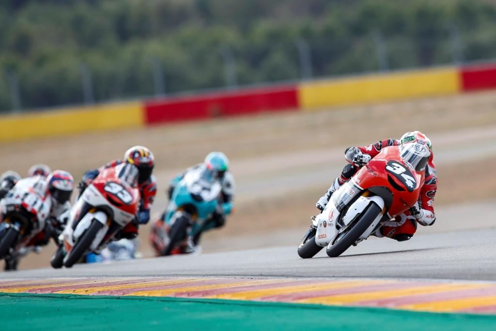 Start ke-26, Mario Aji Finish dengan Poin di CEV Moto3 Aragon