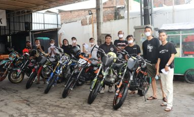 Bikers Brown Bottle Supermoto Cegah Penyebaran Corona