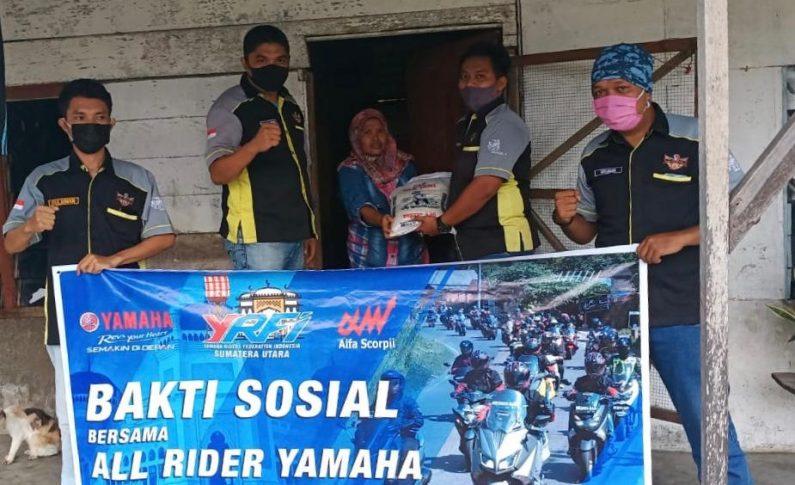 Yamaha Bersama Komunitas YRFI Gelar Baksos Peduli Covid-19