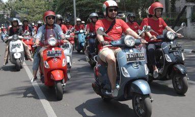 Bikers Bandung Jajal Ketangguhan New Vespa LX 125