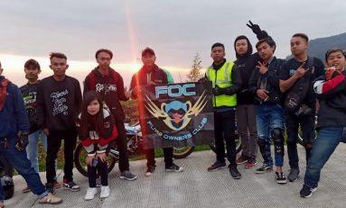Touring Gabungan 5 Klub Satria Menikmati Pesona Alam Dieng
