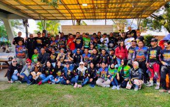 Ratusan Bikers Baderhood Goyang Pantai Pondok Bali Subang