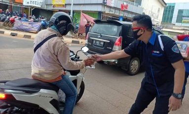 Peduli Corona, GSX Community Nusantara (GCN) Tangsel Bagikan Masker