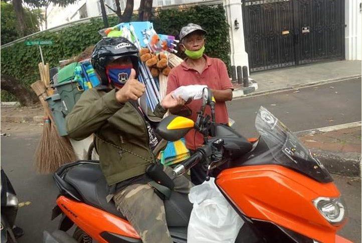 Selama Pandemi Corona, Gomax Riders Aktif Gelar Baksos