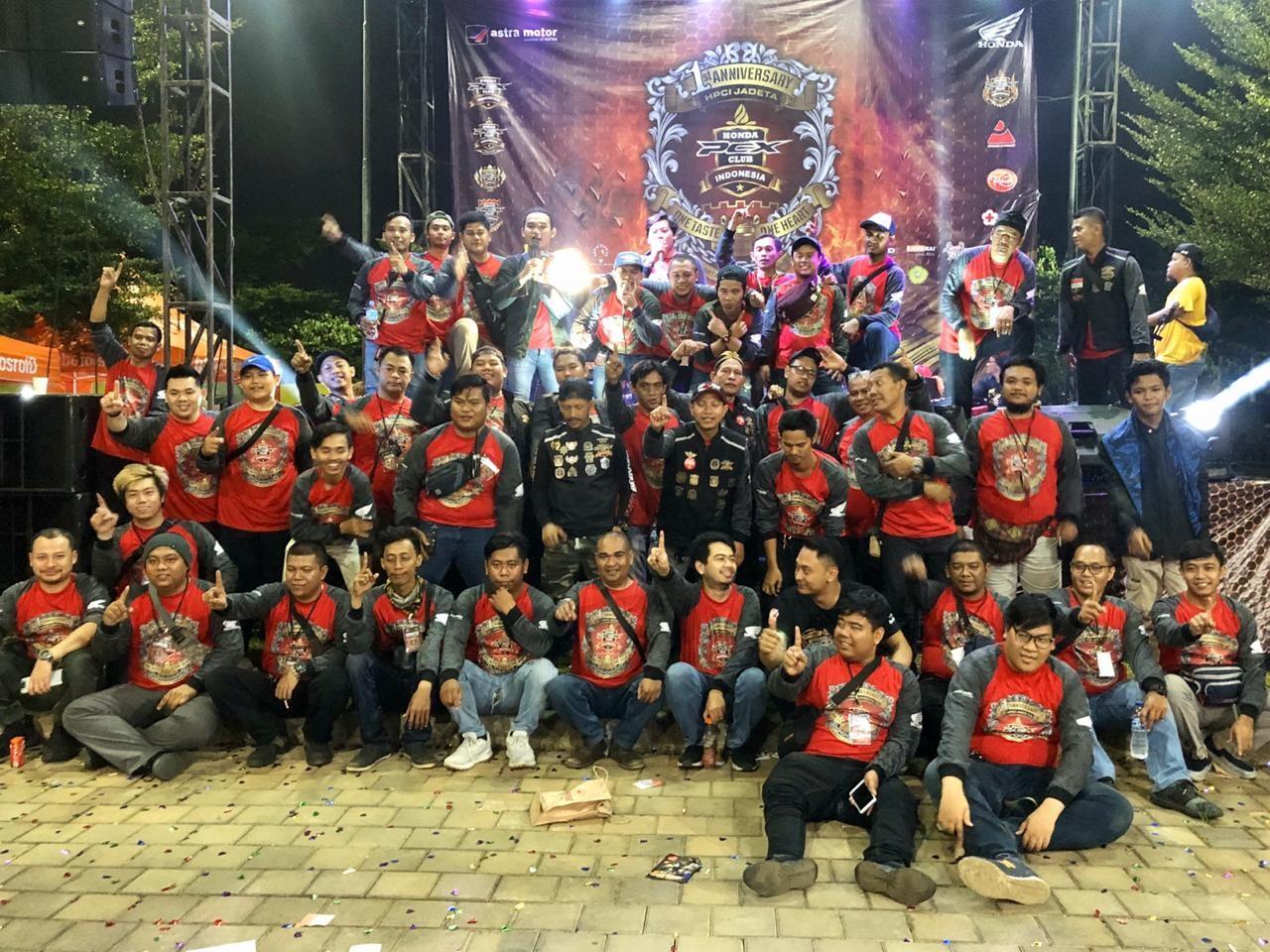 Ulang Tahun Perdana Honda PCX Club Indonesia (HPCI) Jadeta Kedatangan Tamu Kehormatan
