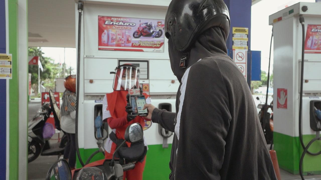 Baru Uji Coba, Transaksi Non Tunai SPBU di Surabaya Meningkat Drastis