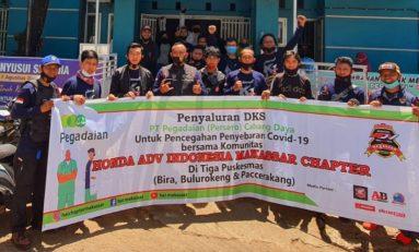 Komunitas Bikers HAI Makassar Salurkan Bantuan APD untuk Tiga Puskesmas