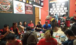 Lady Bikers Indonesia (LBI) Sowan ke Markas Corps Rider's King Community (CRKC)