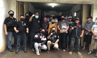 Motor Besar Indonesia (MBI) Bandung Kunjungi Korban Banjir dan Corona Untuk Berbagi