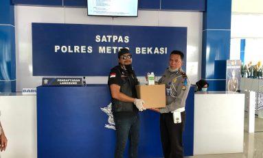 Motor Besar Indonesia (MBI) Bekasi Berbagi Sembako, Hand Sanitizer, Masker dan Disinfektan