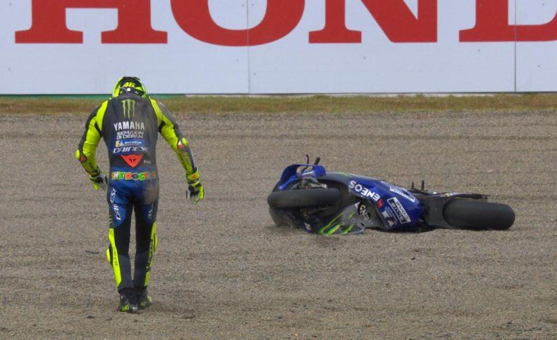 Rossi Terjatuh karena Ulahnya Sendiri di MotoGP Jepang 2019