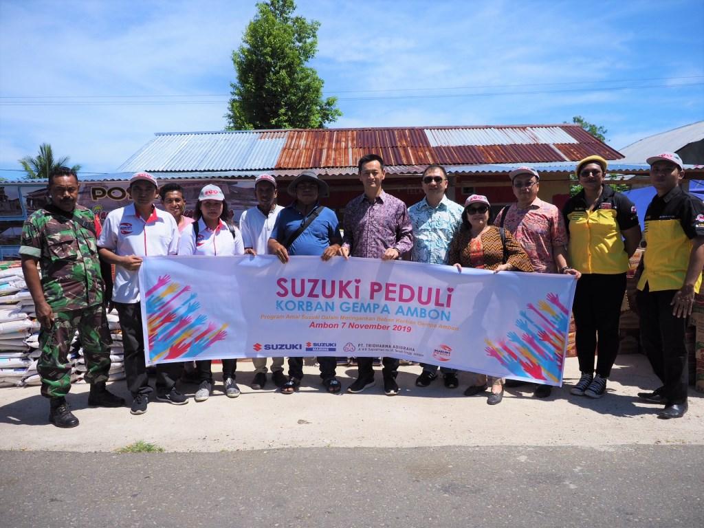 Suzuki Beri Bantuan ke Korban Gempa Maluku