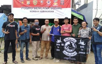 Supermoto Indonesia (SMI) Ambon dan Bikers Subuhan Ambon Bersatu Bantu Korban Kebakaran