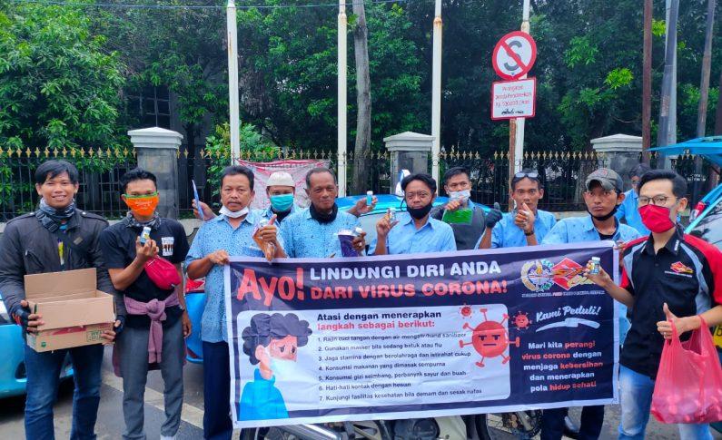 Aksi Bikers SSFC Cileungsi Lindungi Ojol dan Sopir Taksi dari Corona