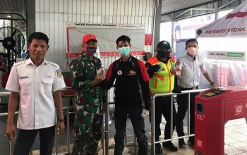 Suzuki Satria F150 Club (SSFC) Depok Kembali Bagikan Hand Sanitizer Gratis