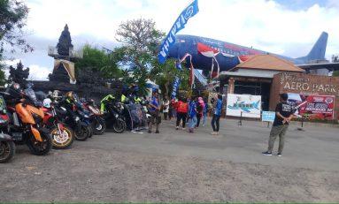 Touring Gabungan YRFI Bali Kunjungi Penangkaran Penyu