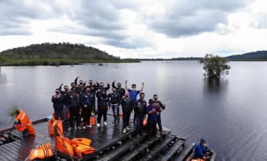 Touring Generasi 125 Jelajahi Wisata Danau Laet Pontianak