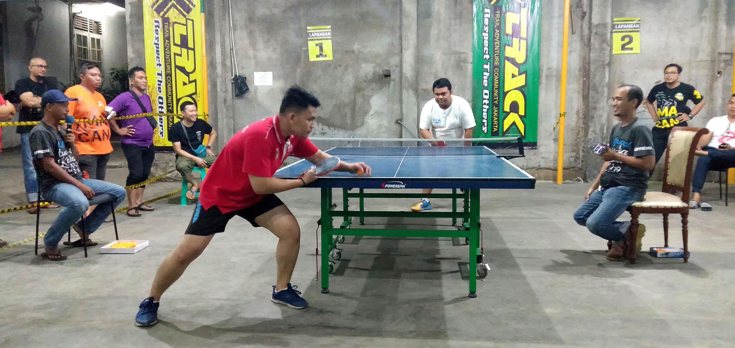 Track Jakarta Gelar Turnamen Tenis Meja, Tantang Biker Adu Ketangkasan