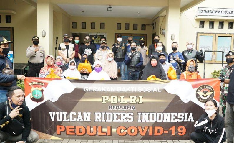 Baksos Komunitas Vulcan Riders Indonesia (VRI), Berbagi dengan Warga Cisauk