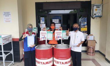 Pertamina Lubricants Donasi Wastafel Daur Ulang Drum Bekas