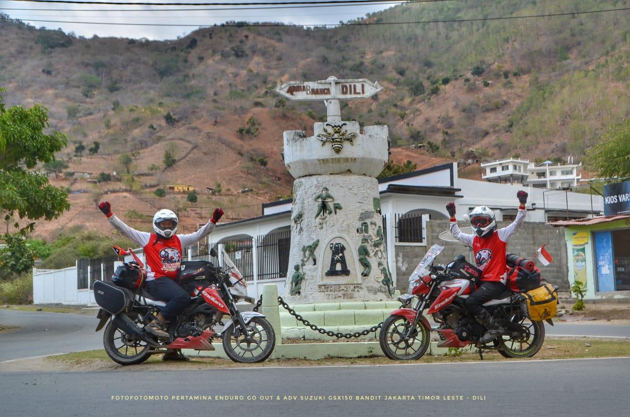 Geber Suzuki GSX150 Bandit, Angga dan Adnan Tiba di Timor Leste