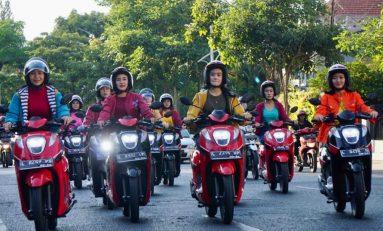 Ribuan Bikers Jawa Timur Buktikan Kelincahan Skutik Honda Genio