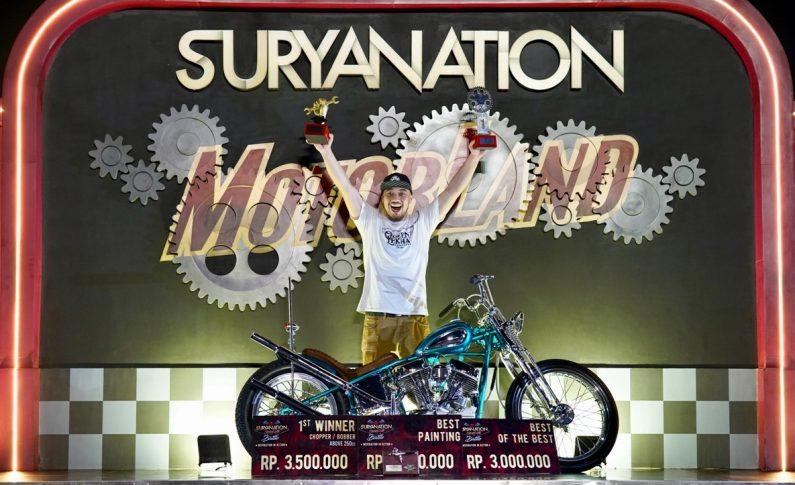 Modifikasi Harley-Davidson S&S Panhead Juara Suryanation Motorland Surabaya