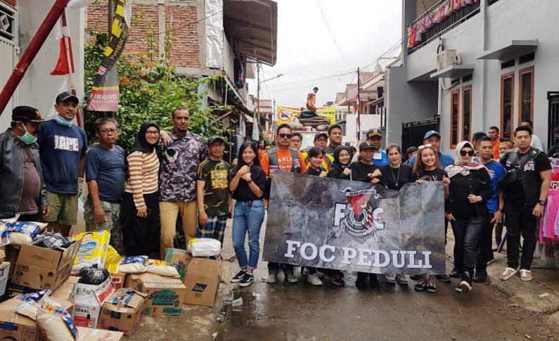 Komunitas Moge FOC Berikan Donasi untuk Korban Banjir Tangerang