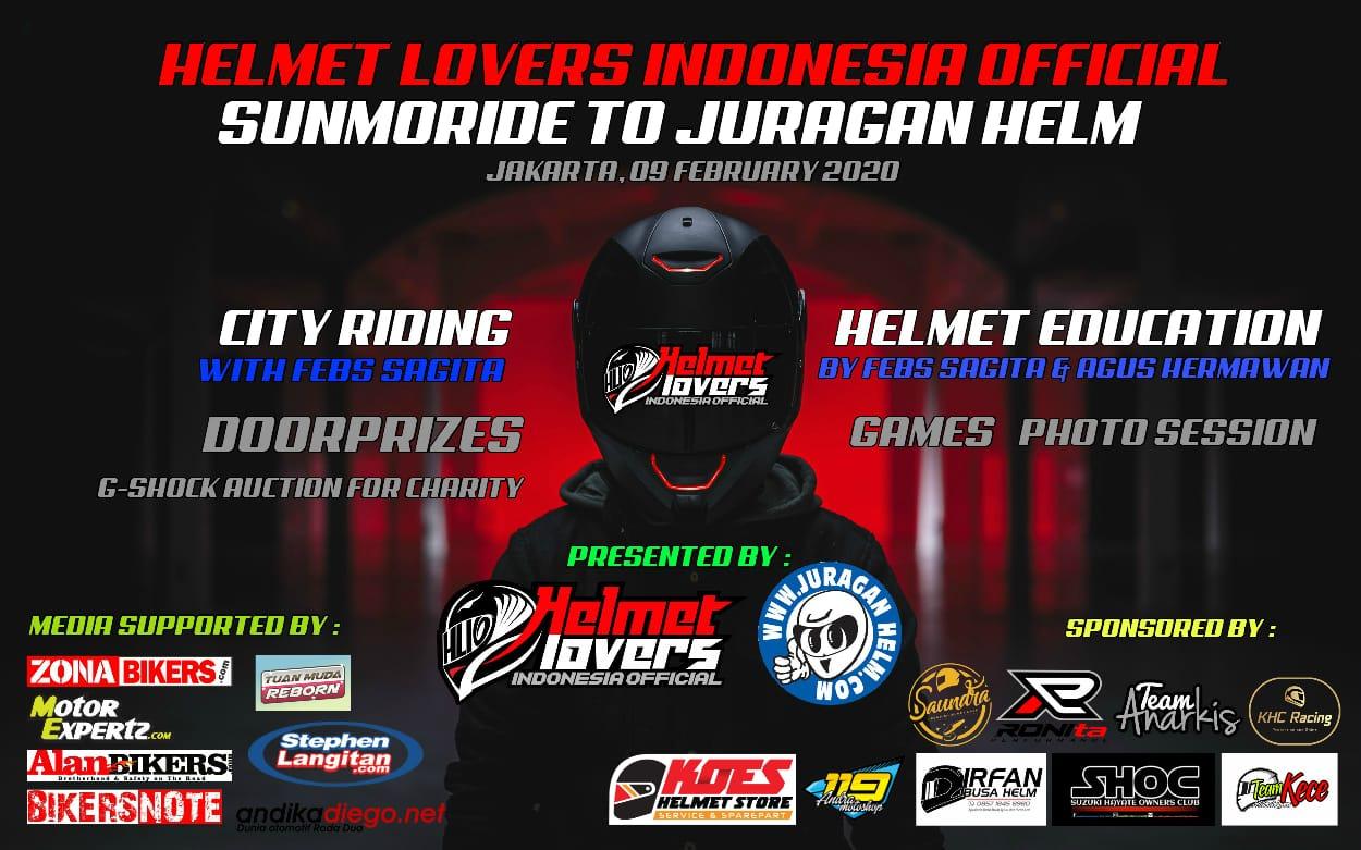 Gelar Sunmori, Helmet Lover Indonesia Official (HLIO) Ajak Bikers Lebih Sadar Keselamatan Berkendara