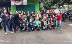 Galang Donasi, Lady Bikers Indonesia (LBI) Turun ke Jalan