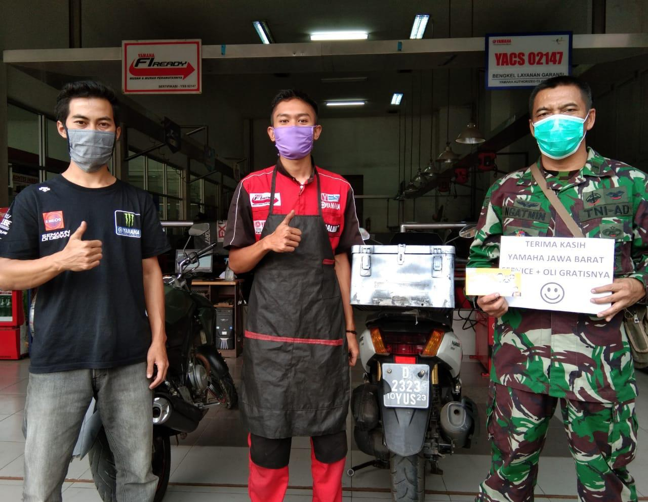 Yamaha Kasih Servis dan Ganti Oli Gratis Selama 2 Bulan